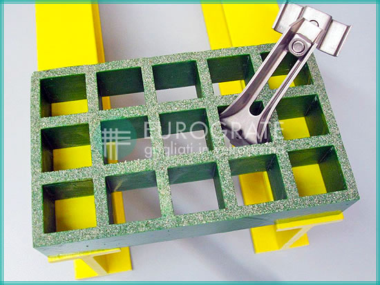 Accessories for gratings and pultruded profiles