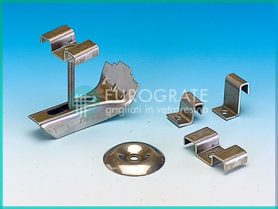 Stainless steel grating clip