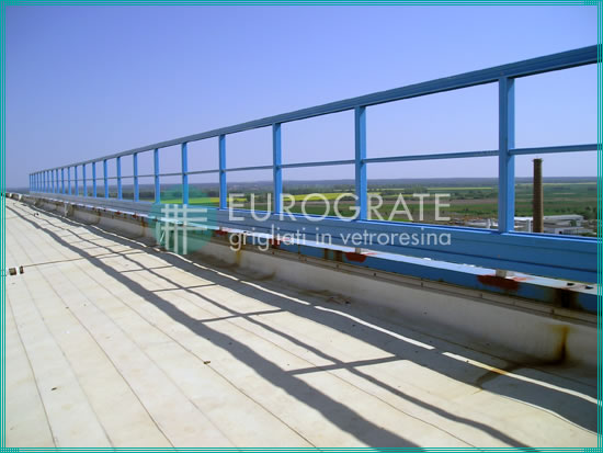safety handrails installed in a heliport
