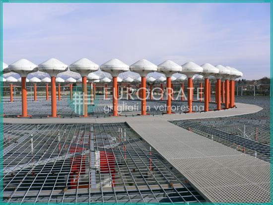 gratings installed near airport radar