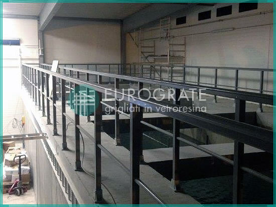 safety handrails and grating walkways to construct a facility for the fishing industry