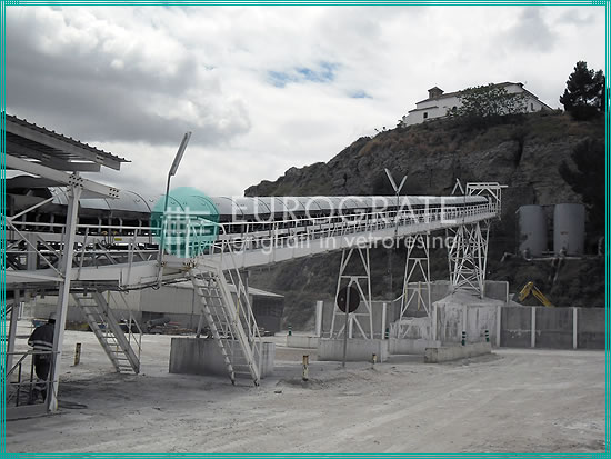 self-supporting structures used to support the transport of materials from a mine to the processing plant
