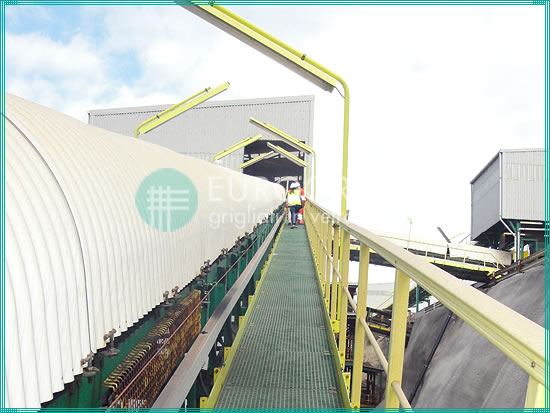 GRP grating walkways and safety handrails for the extraction industry