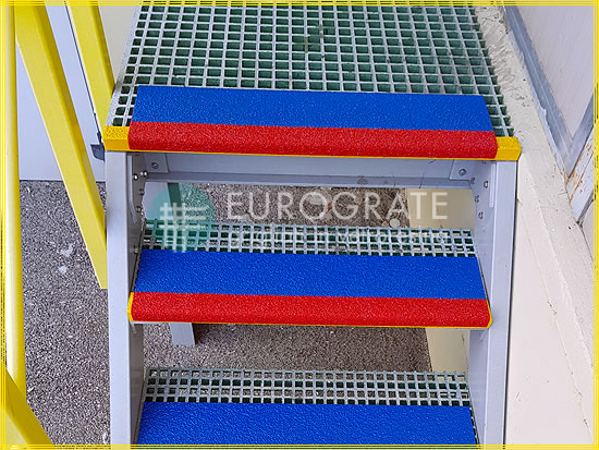 Stair tread covers for making metal steps safe