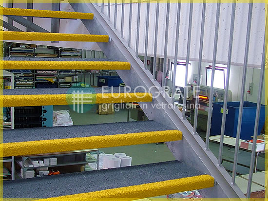 Slip-resistant stair tread covers for staff safety