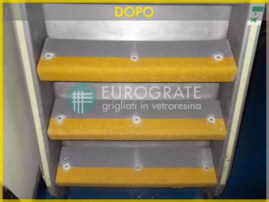 After - the result with Eurograte stair tread covers