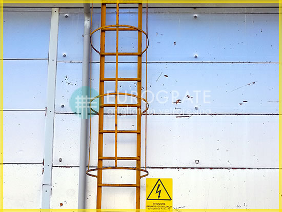 Fibreglass ladder rung covers for vertical ladders