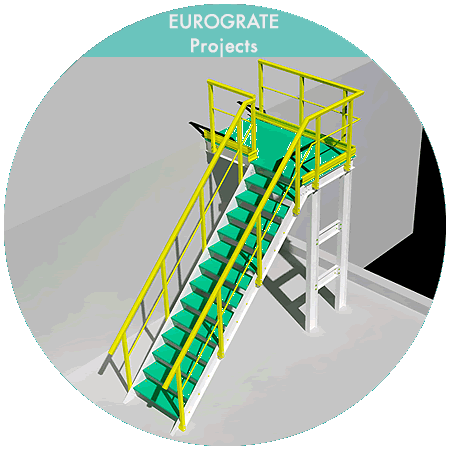 3D technical design of vertical ladders