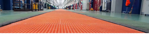GRP gratings and fibreglass products for industrial and construction use