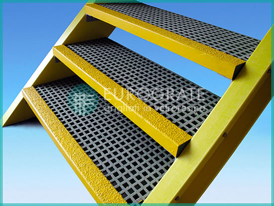 The Eurograte fibreglass stair treads product