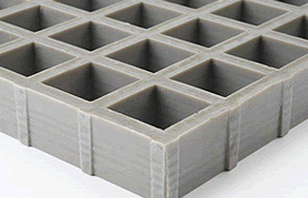 Concave Anti-slip grating with a standard slip-resistant surface