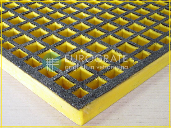 Atex gratings mesh safety colour black and yellow