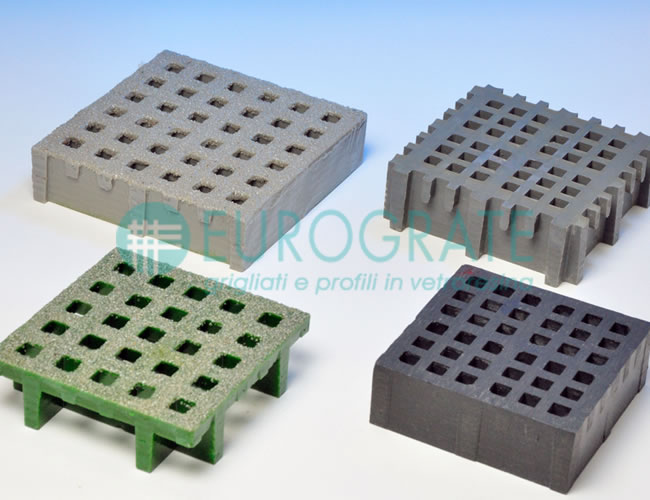 open gratings with mini and micro mesh