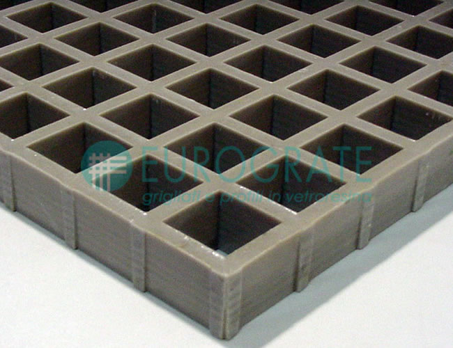 Grating with Self-Extinguishing Polyester Resin