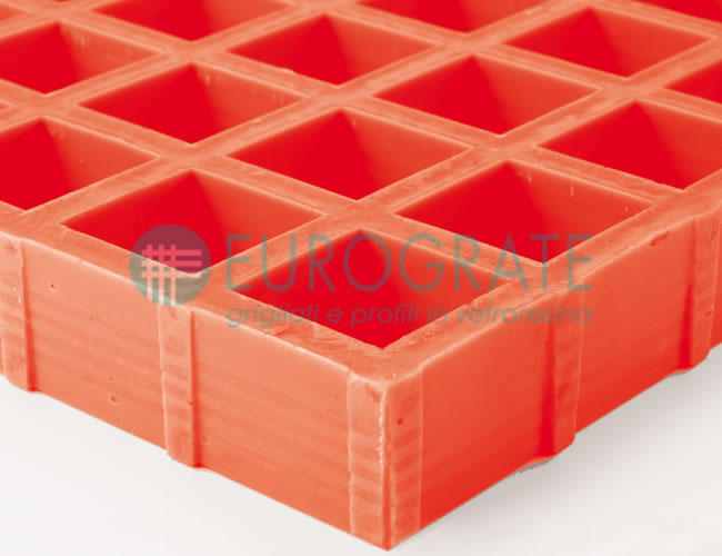 Grating with Resin in special colours