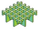 Mini square open mesh moulded grating
