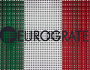 Eurograte Gratings with the colours of the Italian flag