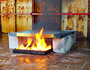 Gratings tested for fire integrity