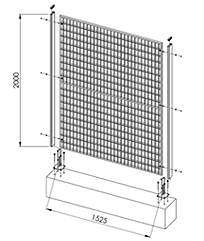 List of GRP industrial fencing meshes