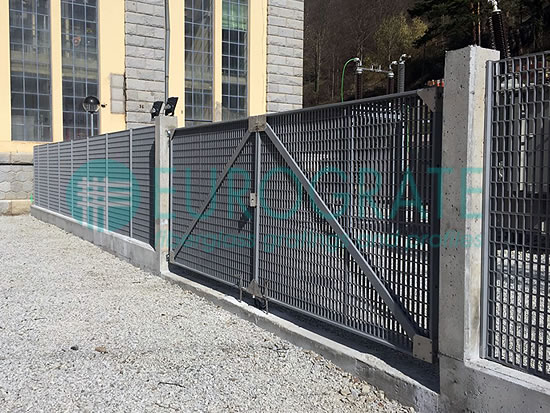 industrial fencing with electrical coils and bespoke automatic gates