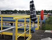 Installation check on safety handrails