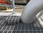 Custom grating with round cut
