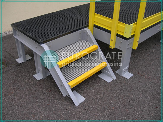 stair treads, stair tread covers and handrails used in self-supporting structures