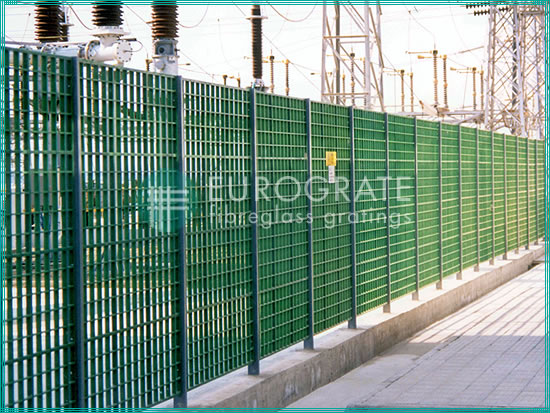 industrial fencing to protect electrical installations