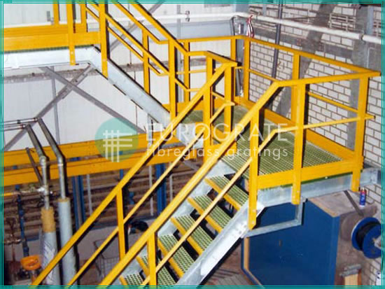 safety handrails, stair treads and ladders for applications in the electricity sector
