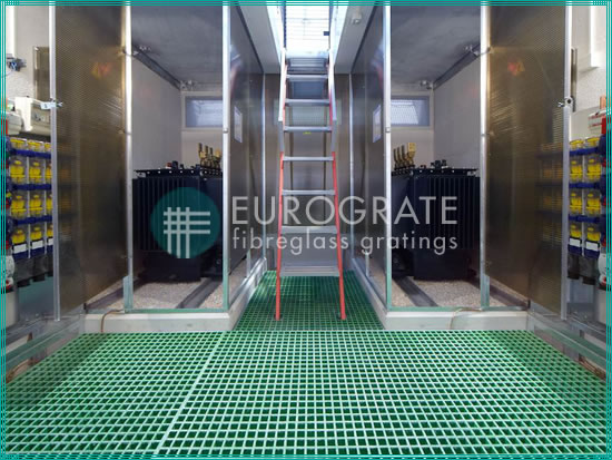 floor gratings for the electrical power industry