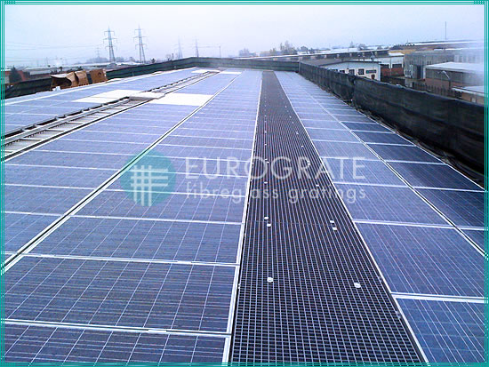GRP walkways installed in photovoltaic solar plants