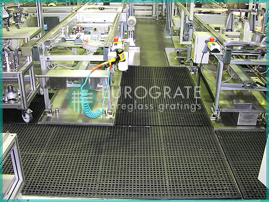 FRP industrial floor gratings in the engineering sector