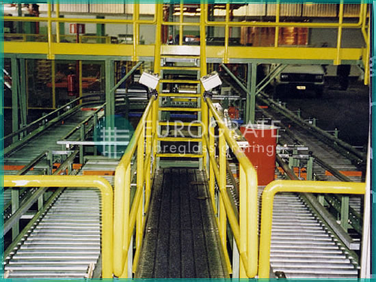 safety handrails, stair treads and stair tread covers for worker protection in engineering installations