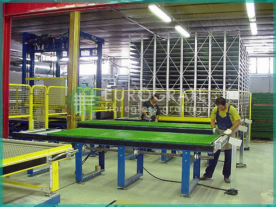production of grating panels