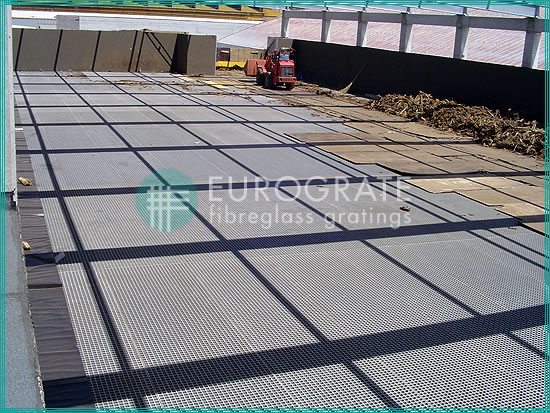 grated flooring for a new water treatment plant