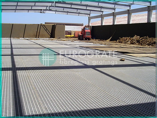 floor gratings for a new water treatment plant