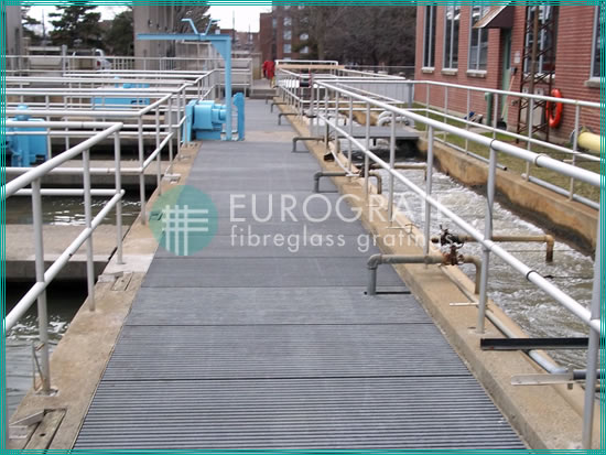 GRP walkways used in corrosive environments